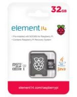 element14 32GB MicroSDHC Card Pre-Loaded NOOBs OS 13AC9477