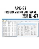 APK-G7 Programming Software Only for the Alinco DJ-G7