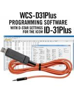 WCS-D31Plus Programming Software and USB-RTS05 data cable for the Icom ID-31Plus