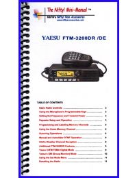 Nifty Accessories Yaesu FTM-3200DR Mini-Manual