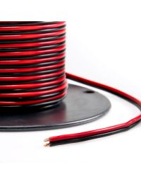 Seminole Wire and Cable 250' Spool, Red/black power cable, 14AWG