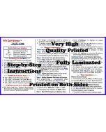 Niftty Manual Yaesu FT-65R Tri-Folded Reference Card
