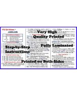 Nifty Manual Yaesu FT-65R Tri-Folded Reference Card