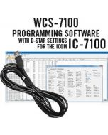 WCS-7100 Programming Software and RT-41 cable for the Icom IC-7100