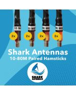 Shark Antennas 10-80M Paired Hamsticks