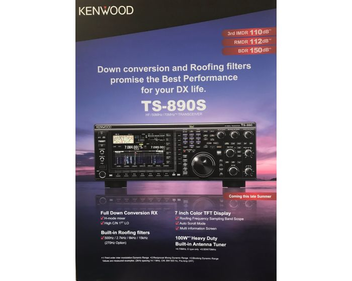 Kenwood TS-890S 100W HF/50MHz Transceiver