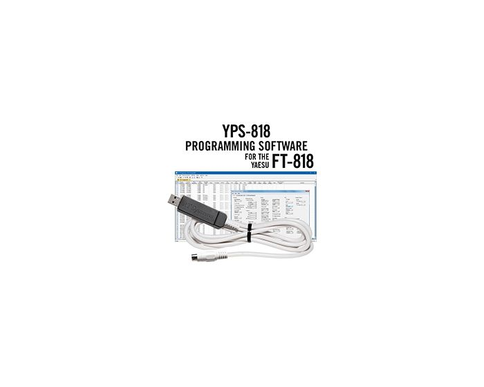 YPS-818 Programming Software and USB-62 cable for the Yaesu FT-818