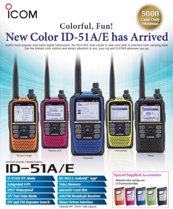 NEW DRIVERS: ICOM ID-51A TRANSCEIVER